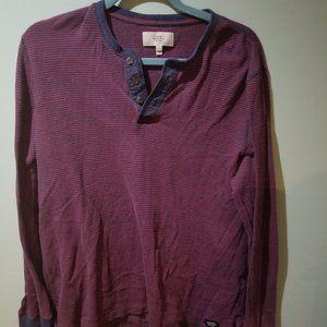 Jack Spade Dawn Striped Henley Shirt Size L